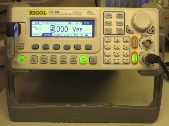 Creating an Arbitrary Waveform with the Rigol DG1022