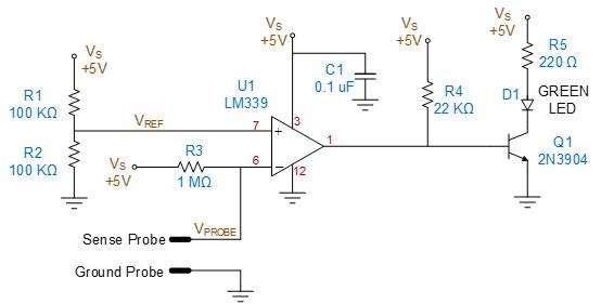 A Low Cost Water Sensor Circuit